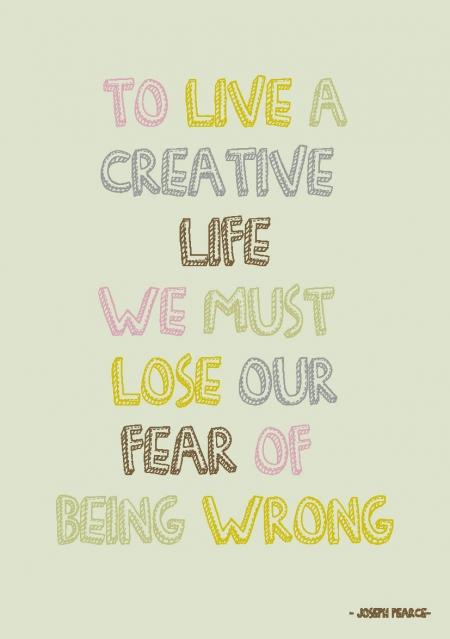 QUOTE POSTKAART TO LIVE A CREATIVE LIFE