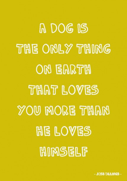 Quote postkaart a dog is the only thing on earth that loves you