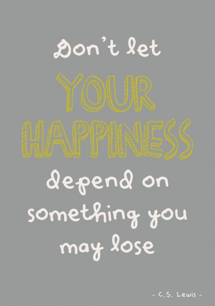 Quote postkaart Don't let your happiness depend on something you may lose quote en tekst postkaart Studio inktvis_Pagina_18
