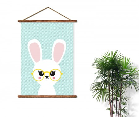 poster konijn studio inktvis