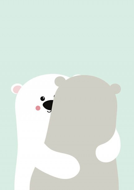 poster A3 big bear hug