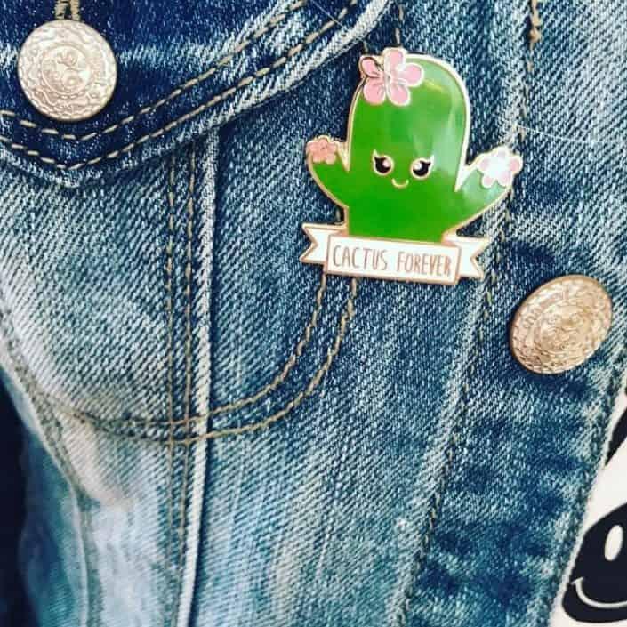 cactus forever enamel pin