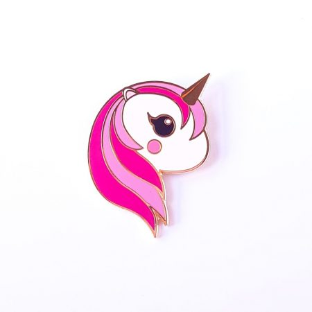 unicorn kawaii cute pin pink