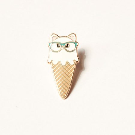 cat icecream pin