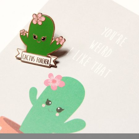 cactus forever pin