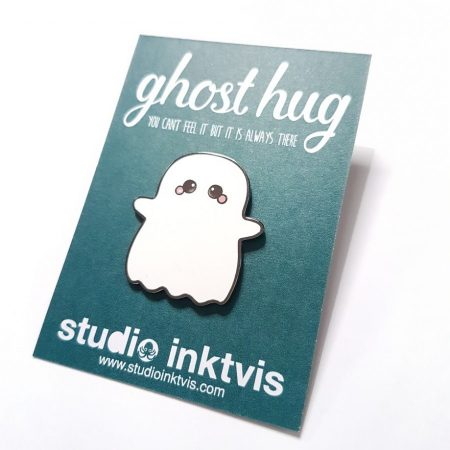 ghost hun enamel pin