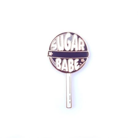 PIN LOLLIPOP SUGAR BABE ZWART