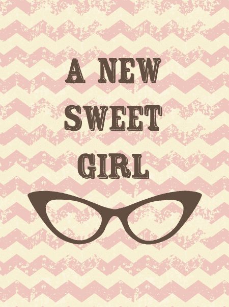 Poster a new sweet girl Studio Inktvis poster 40 x 30 cm (1)