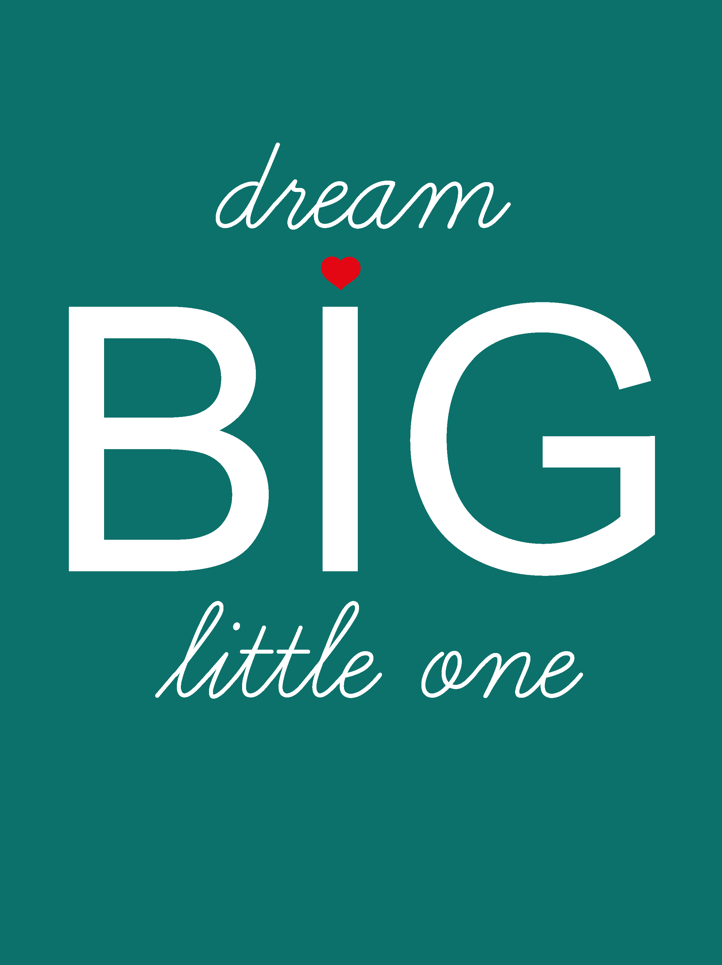 Poster Dream BIG little one Studio Inktvis poster 40 x 30 cm (20)