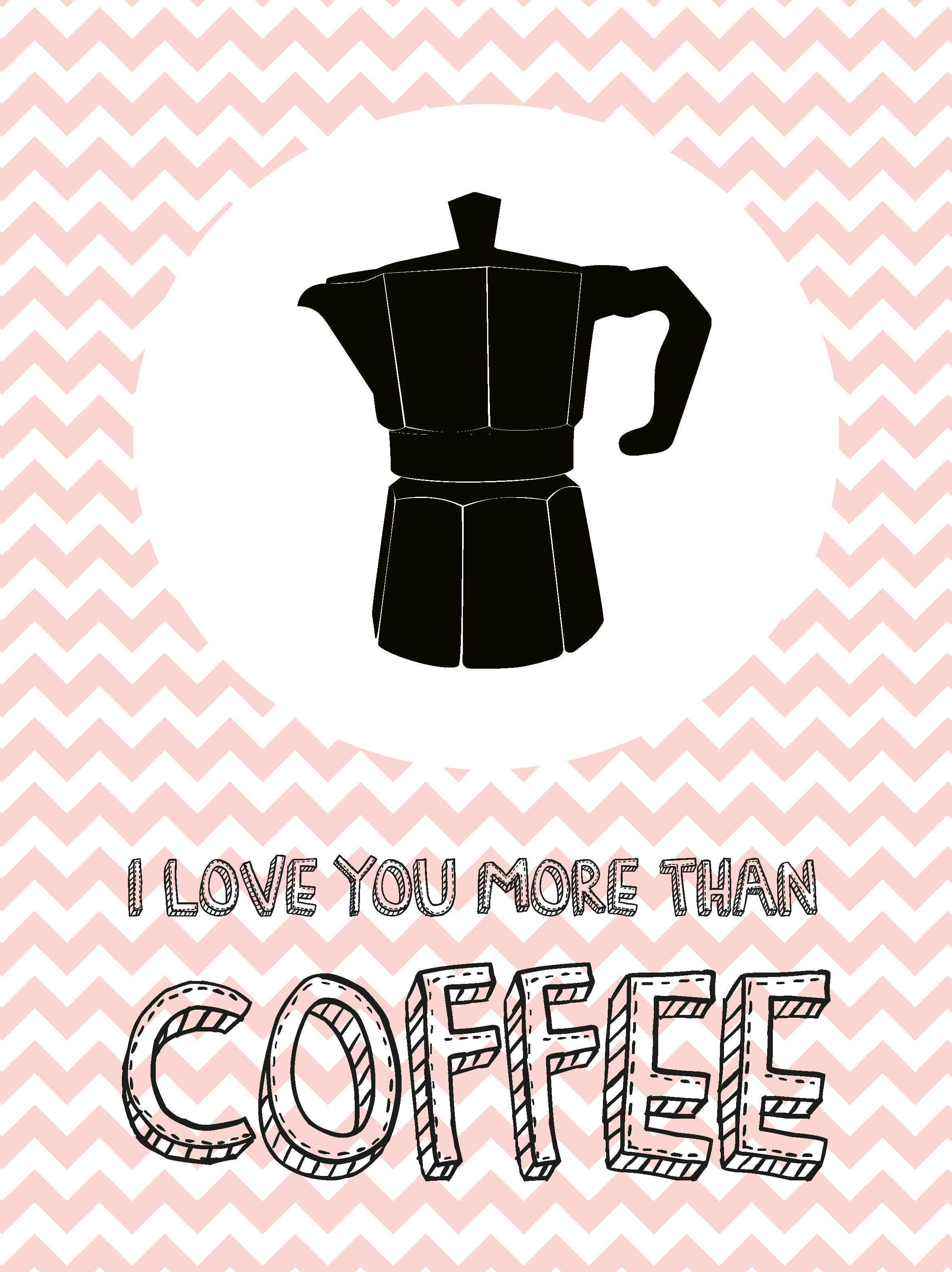 I Love You More Than Coffee Studio Inktvis Poster 40 X 30 Cm 7