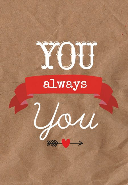 Studio inktvis Valentijn postkaart you always you Valentijnskaart VAL001