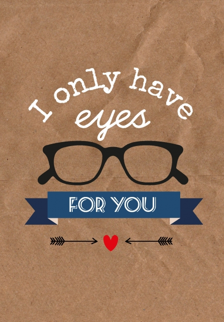 Studio Inktvis Valentijn postkaart I only have eyes for you VAL002