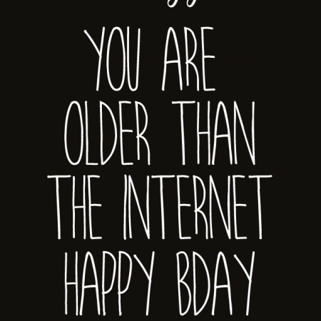 POSTKAART YOU ARE OLDER THAN THE INTERNET