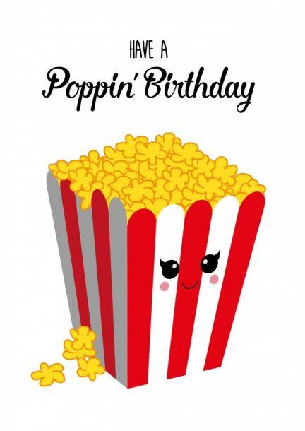 POSTKAART HAVE A POPPIN BIRTHDAY
