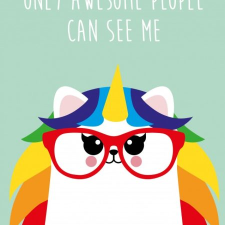 POSTKAART ONLY AWESOME PEOPLE CAN SEE ME