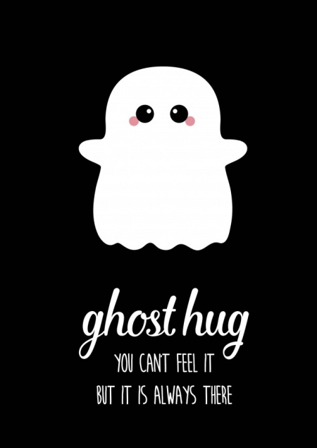 POSTKAART GHOST HUG