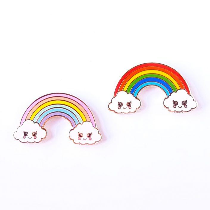 rainbow kawaii pastel pin