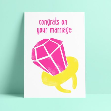 POSTKAART CONGRATS ON YOUR MARRIAGE