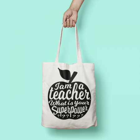 TAS I AM A TEACHER ZWART