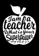 POSTKAART I AM A TEACHER ZWART