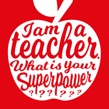POSTKAART I AM A TEACHER WHAT IS YOUR SUPERPOWER