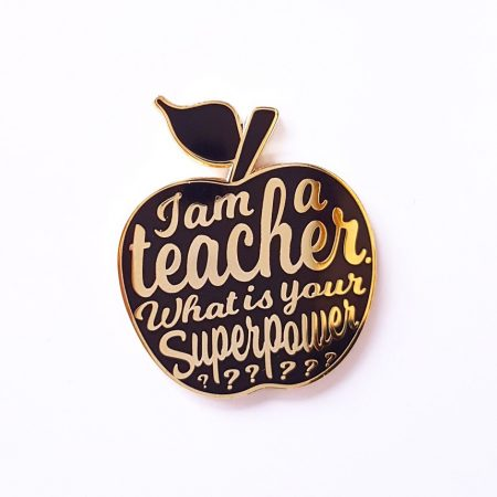 PIN I AM A TEACHER ZWART