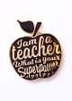 PIN I AM A TEACHER ZWART