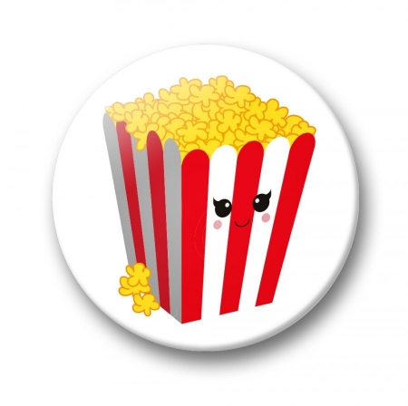 BUTTON 32 MM POPCORN