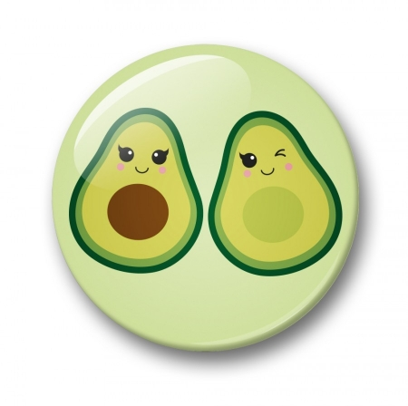 BUTTON 32 MM AVOCADO
