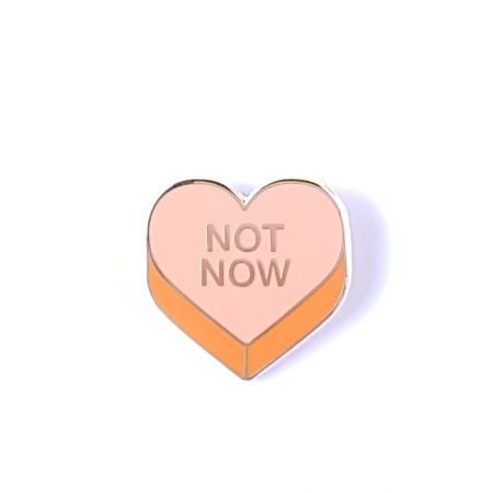 PIN SNOEPHARTJE NOT NOW PEACH