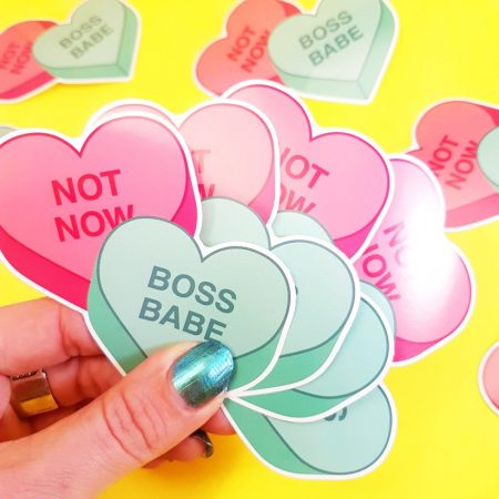 STICKER BOSS BABE NOT NOW