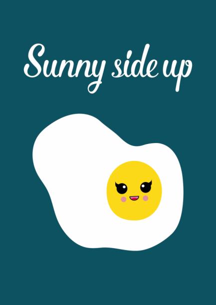 POSTKAART SUNNY SIDE UP
