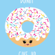 POSTKAART DONUT GIVE UP