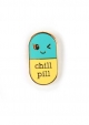PIN CHILL PILL MINT GEEL