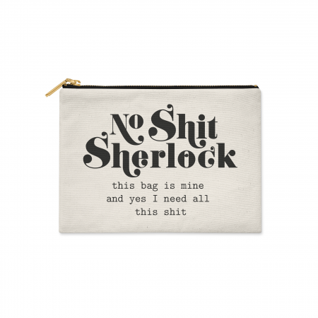 Canvas etui No Shit Sherlock