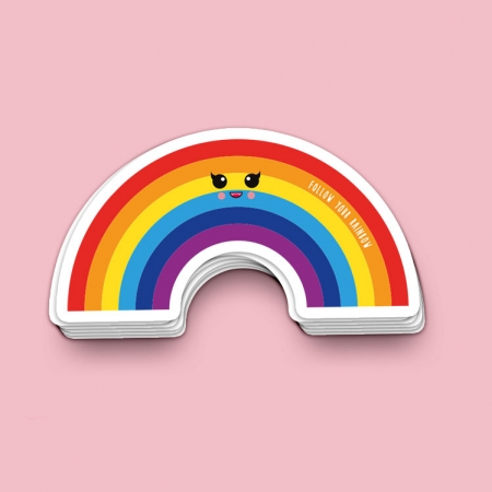 STICKER FOLLOW YOUR RAINBOW
