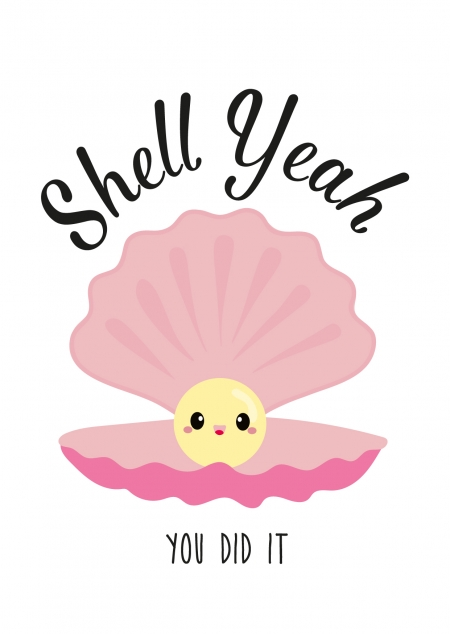 POSTKAART SHELL YEAH YOU DID IT