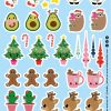 STICKERVEL A5 32 STICKERS KERST