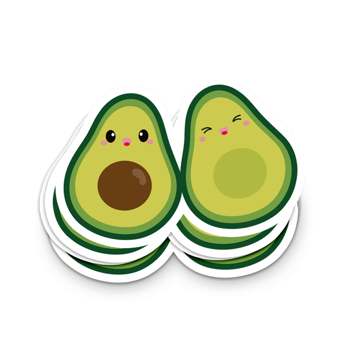 STICKER XL AVOCADO DUO