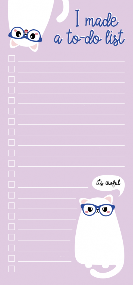 TO DO BLOK 10x21 CM GRUMPY CAT