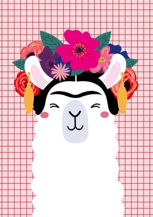 Frida Kahlo llama