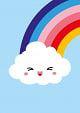 Postkaart wolk regenboog