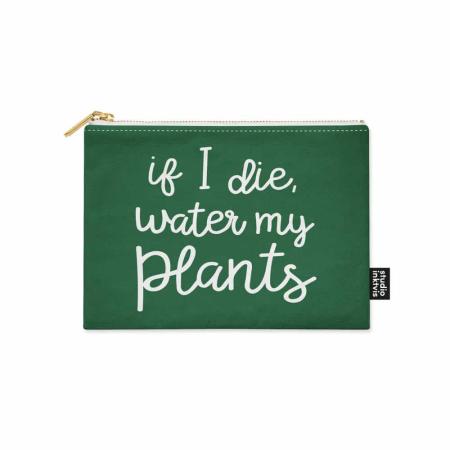CANVAS ETUI IF I DIE WATER MY PLANTS