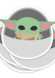 STICKER XL STAR WARS BABY YODA GROGU